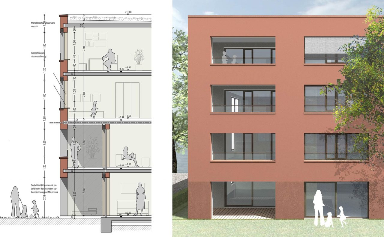 Lurz von Brunn Hefner-Alteneck-Quartier Aschaffenburg Detailschnitt