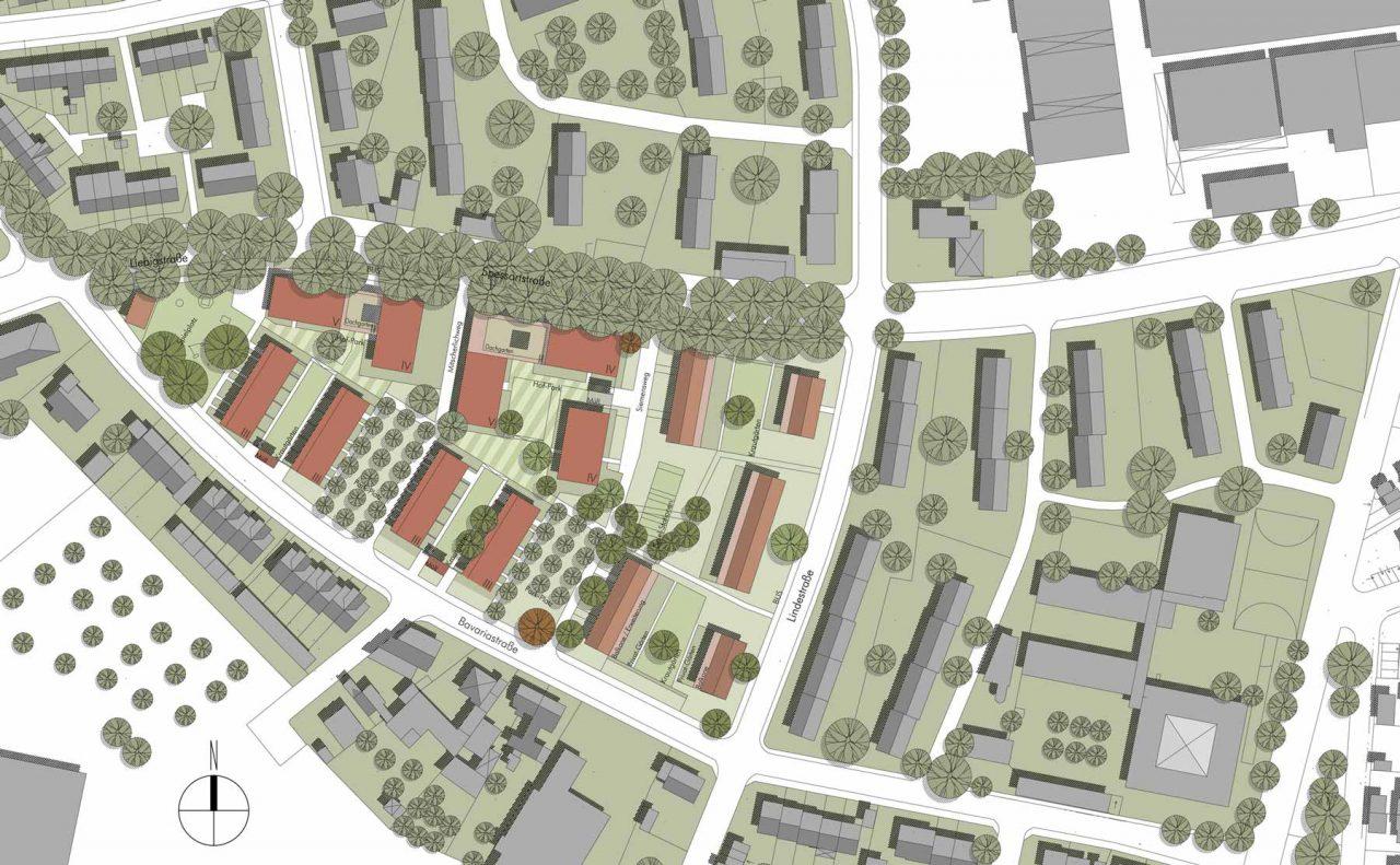Lurz von Brunn Hefner-Alteneck-Quartier Aschaffenburg Lageplan