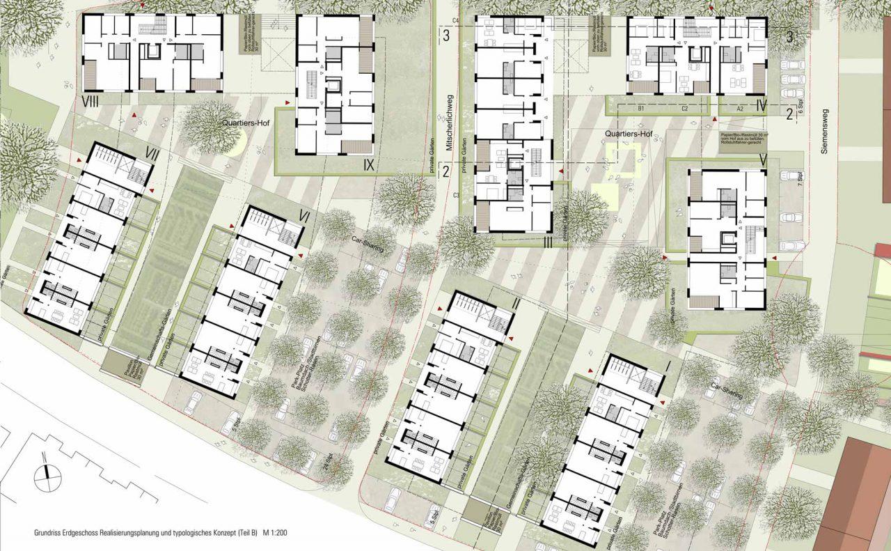 Lurz von Brunn Hefner-Alteneck-Quartier Aschaffenburg Realisierungsplan