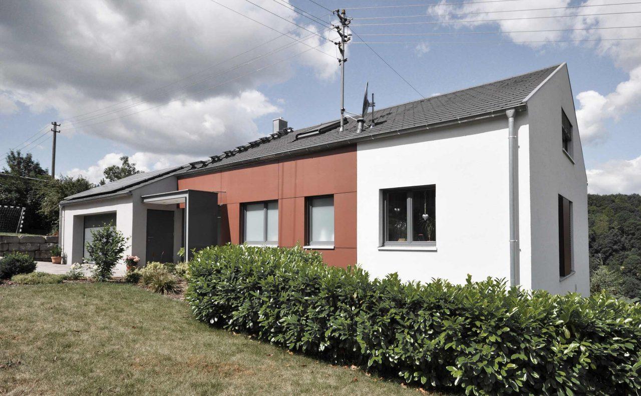 Einfamilienhaus Koenigheim Fassade